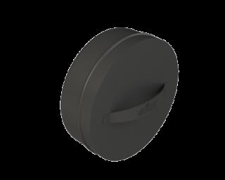 GrillD Заглушка с ручкой, ОС 0.5 мм D250, черный(порошковая краска)