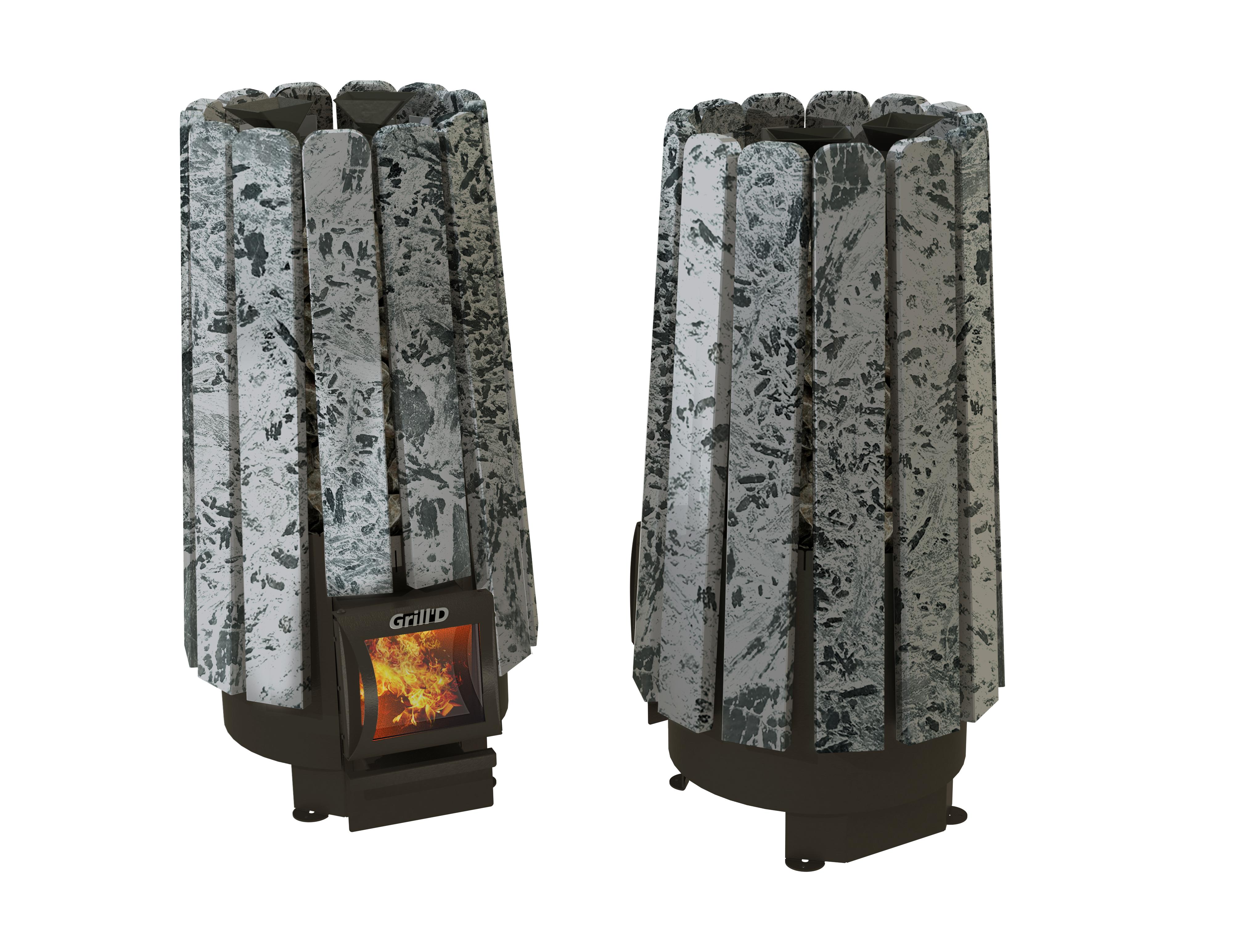 Дровяная банная печь Cometa 180 Vega Short Stone