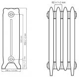 Чугунный ретро радиатор Windsor 500