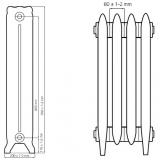 Чугунный ретро радиатор Windsor 800