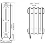Чугунный ретро радиатор Derby M4 4/500
