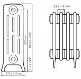 Чугунный ретро радиатор Derby M4 4/320