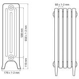 Чугунный ретро радиатор Derby CH 500/160