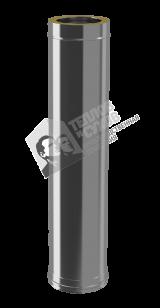 Сэндвич труба 1 м 0,8 мм